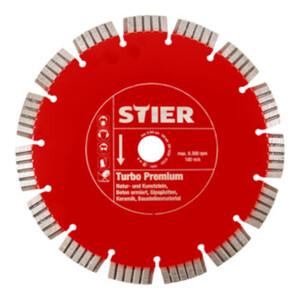 STIER Diamanttrennscheibe Turbo Premium Ø400 mm Bohrung 20 / 25,4 mm
