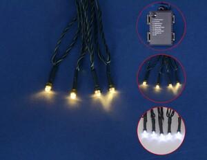 TrendLine LED Lichterkette   80 LED, warmweiß/weiß