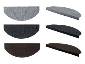 MERADISO® Stufenmatten, 15 Stück, strapazierfähig, 65 x 26 cm