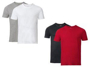 LIVERGY® T-Shirt Herren, 2 Stück, mit Baumwolle