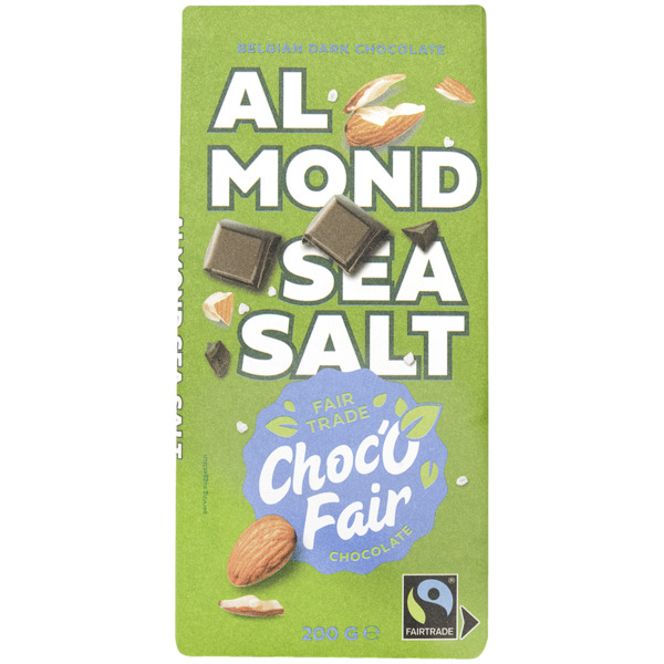 Choc-O-Fair Schokoladenriegel Bitter, Mandel & Meersalz