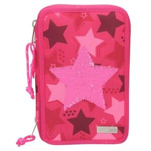 TOPModel 3fach Federtasche Stern, pink