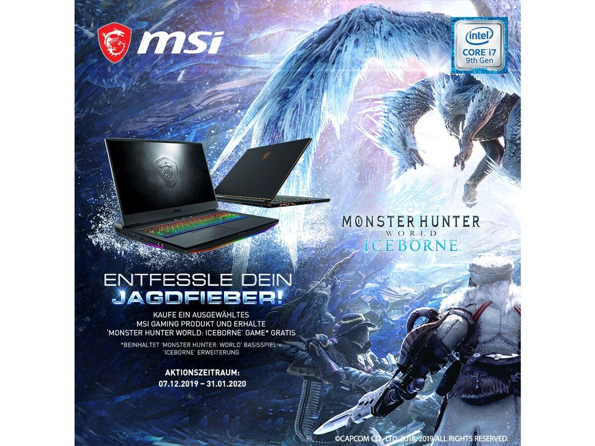 "Bild 2 von MSI GE75 9SE-421 Gaming Laptop - 17"" FHD / i7-9750H / 16GB RAM / 512GB SSD + 1TB HDD / RTX 2060 6GB / Win 10 Home"