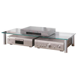 TV-AUFSATZ Metall, Glas Klar, Silberfarben