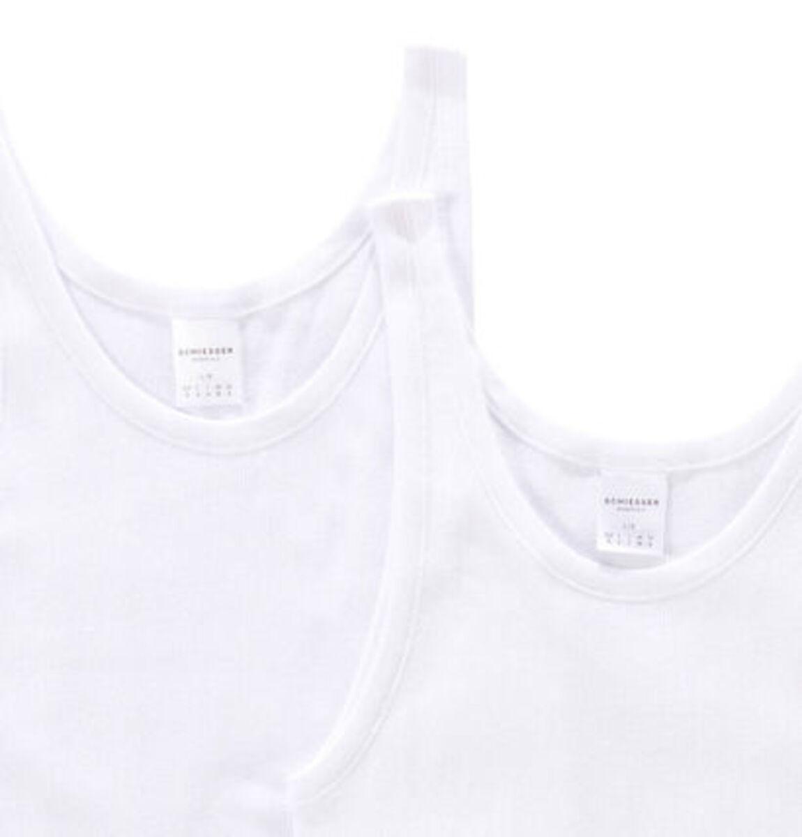Bild 3 von Schiesser Unterhemd, uni, Doppelripp, Baumwolle, 2er-Pack