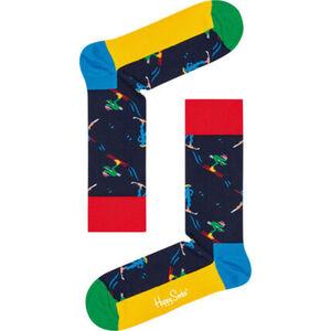 Happy Socks Socken, Weihnachtsdesign, Ski, unisex
