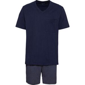 Seidensticker Pyjama, kurz, V-Ausschnitt, für Herren