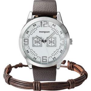 Manguun Herrenuhr mit Armband