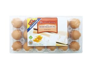 Frische Eier aus Bodenhaltung XXL