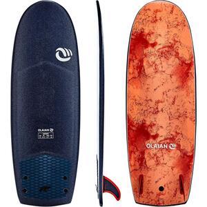 """Surfboard 900 Schaumstoff Soft 5'4"""" mit 2 Finnen"""