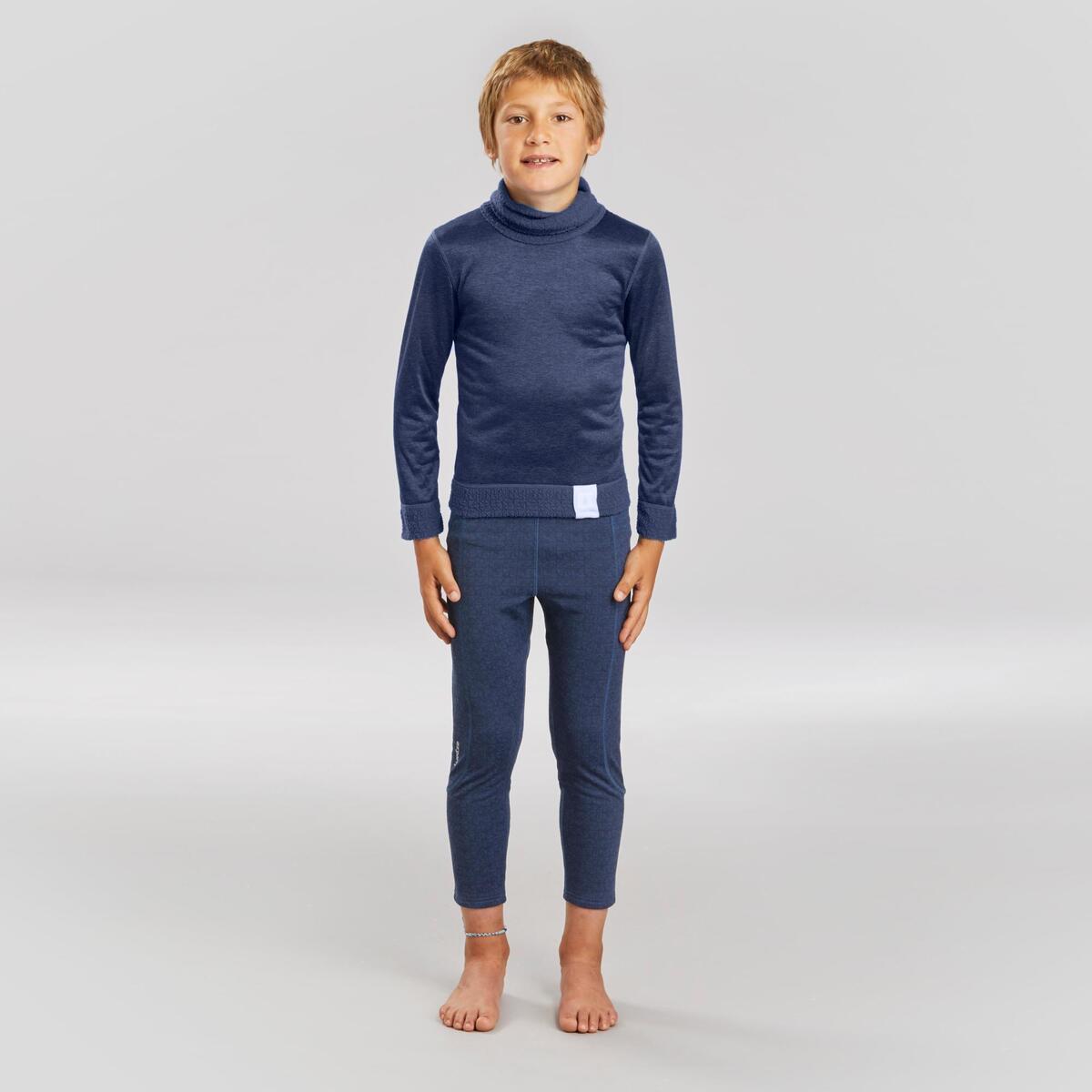 Bild 2 von Skiunterhose Funktionshose 500 Kinder marineblau