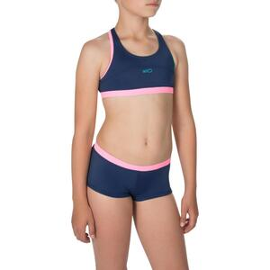 Bikini Shorty Leony Mädchen blau/rosa