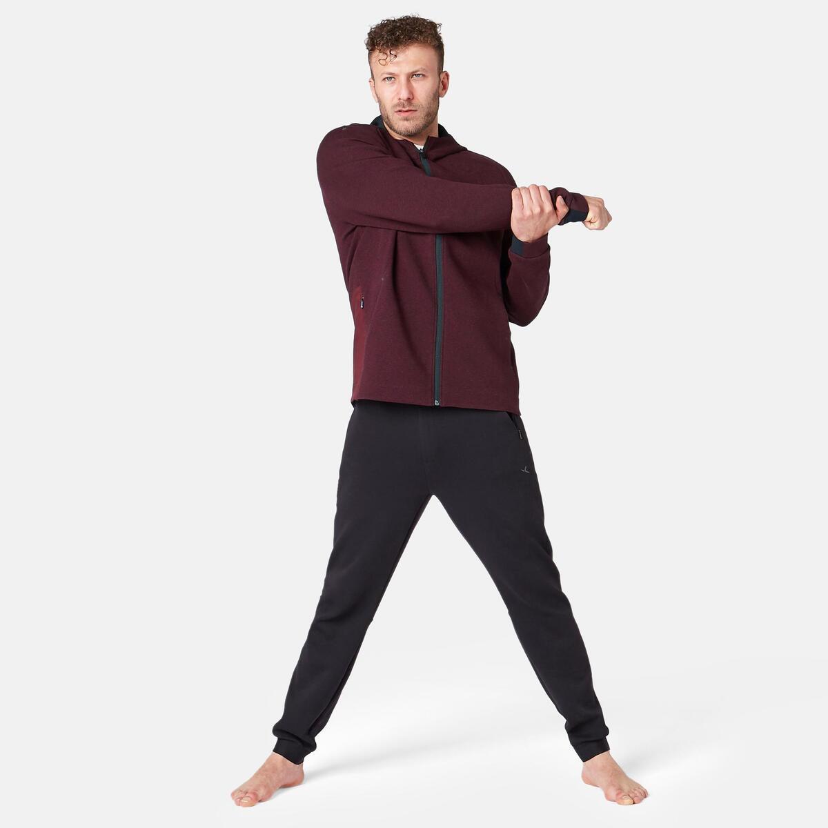 Bild 4 von Kapuzenjacke 530 Spacer Pilates sanfte Gymnastik Herren bordeauxmeliert