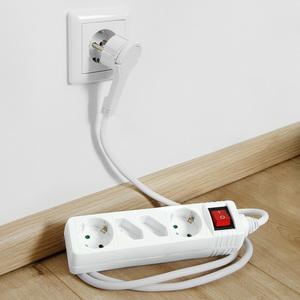 Powertec Electric 4-Fach Steckdosenleiste mit Flachstecker