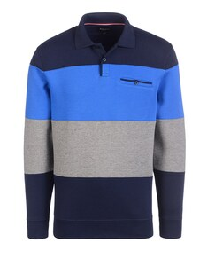 Bexleys man - Polo-Sweatshirt mit Blockstreifen