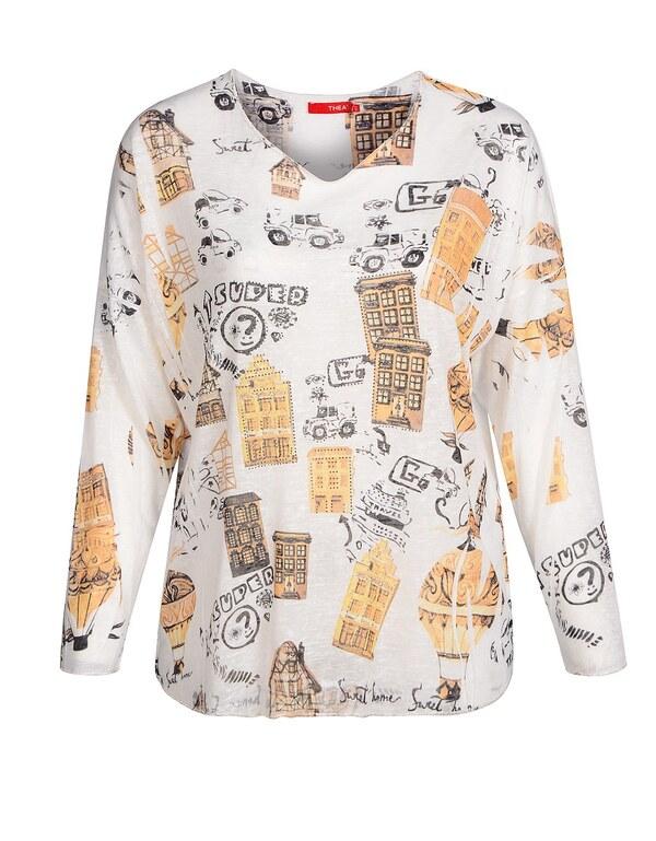 THEA - Shirt mit V-Ausschnitt