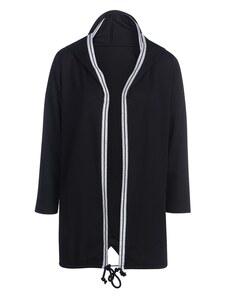 My Own - lange Jersey-Jacke mit Glitzerstreifen und Kapuze