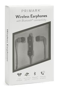 Graue kabellose Kopfhörer