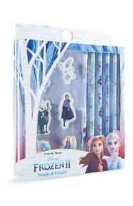 """""""Frozen"""" Bleistift- und Radiergummiset"""