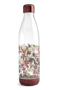 Flasche mit rotem Blumenmuster