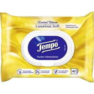 Tempo feuchte Toilettentücher Luxurious Soft