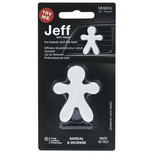IDEENWELT Jeff Autolufterfrischer weiß Sandal & Incence