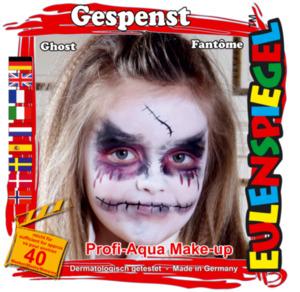 Schminkset Gespenst, 4 Farben à 5g, für Halloween oder Fasching