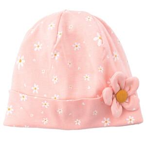 Baby Mütze mit applizierter Blüte