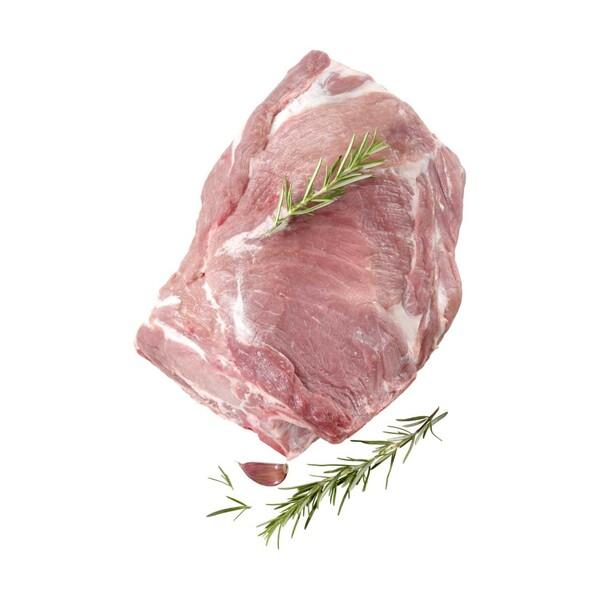 Frischer Schweinenackenbraten mit Knochen, am Stück,  je 1 kg