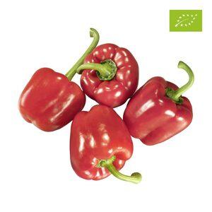 real Bio Spanien/Israel Paprika rot, Kennzeichnung siehe Etikett, jede 400-g-Packung