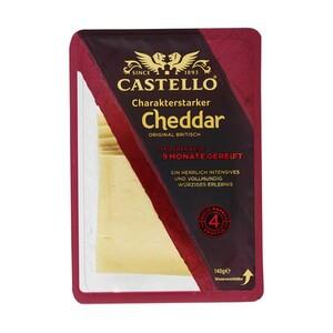 Castello Höhlenkäse oder Cheddar Scheiben Britischer Schnittkäse 48/50 % Fett i. Tr., jede 140/150-g-Packung und weitere Sorten