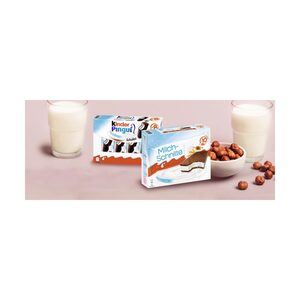 Ferrero Milch-Schnitte 10 x 28 g = 280 g oder Kinder-Pingui 8 x 30 = 240 g, jede Packung