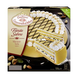 Coppenrath & Wiese Feinste Sahne Marzipan Torte oder Mousse au Chocolat gefroren, jede 1250/1200-g-Packung und weitere Sorten