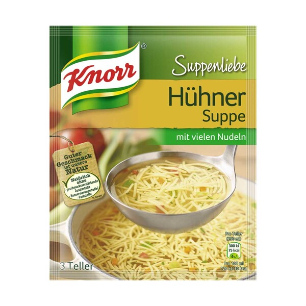 Knorr Suppenliebe 3 Teller versch. Sorten, jeder Beutel