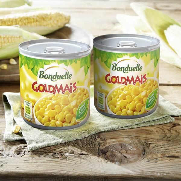 Bonduelle Mais oder Gemüsekonserven jede 425-ml-Dose/285/280 g Abtropfgewicht