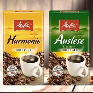 Melitta Café Auslese oder Harmonie versch. Sorten, jede 500-g-Vac.-Packung