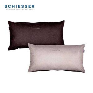 Wende-Kopfkissenbezug 2er-Pack, 100 % Baumwolle, versch. Farben, 40 x 80 cm