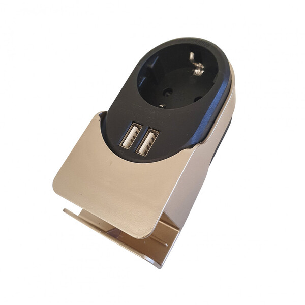 ROWI Steckdosenadapter mit Handyhalter