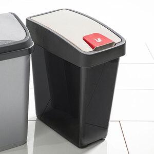 Toptex Abfallbehälter 25L mit Flip-Deckel, graphite