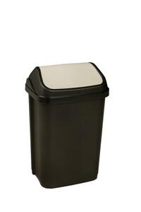 Toptex Abfallbehälter 25L mit Schwingdeckel, graphite