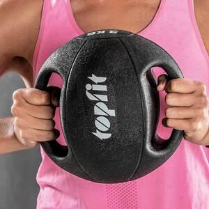 Topfit Medizinball mit Tragegriff 6 kg