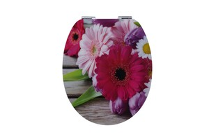 Duschwell MDF High Gloss WC-Sitz Blumen