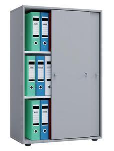 VCM Büroschrank Lona XL mit Schiebetüren Grau