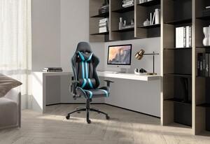 HappyHome Racing-Sessel schwarz-blau