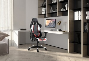 HappyHome Gaming-Sessel schwarz-rot