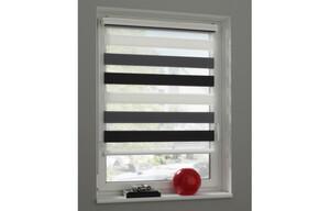 Doppelrollo Farbig, weiß-grau-schwarz, ca. 80 x 160 cm