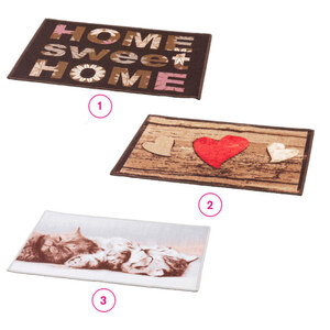 Fußmatte bedruckt 50 x 70 cm in verschiedenen Varianten