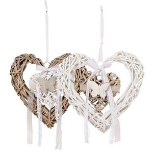 Herzhänger aus Weide 29 x 28 x 5 cm in zwei Varianten