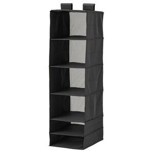 SKUBB                                Aufbewahrung mit 6 Fächern, schwarz, 35x45x125 cm