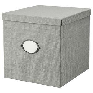 KVARNVIK                                Kasten mit Deckel, grau, 32x35x32 cm